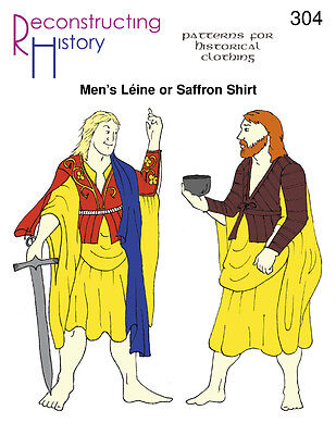 Mens Leine Or Saffron Shirt -Reconstructing History Paper Patterns    Rh 304