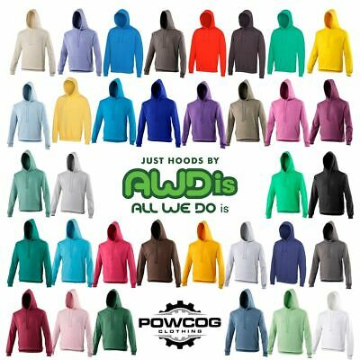 AWDis Heavy Blend Plain Hooded Sweatshirt Hoodie Sweat Hoody Jumper Just Hoods
