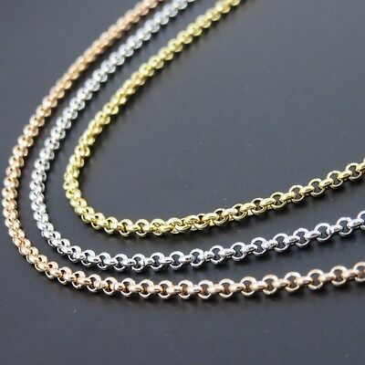 2.5mm Gold-Color Rolo Chain, Rose Gold Color Stainless Steel O Necklace, Fashion