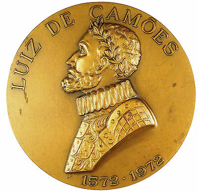 Portugal literature CAMOES 400TH ANNIVERSARY OF OS LUSIADAS bronze 82mm