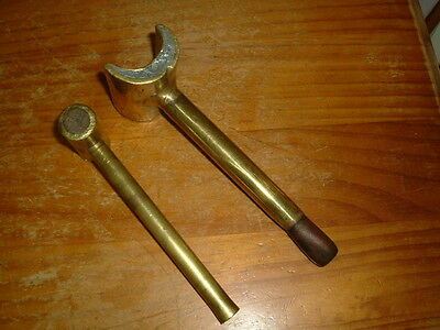 Vintage 2 brass sail / rope maker mallets