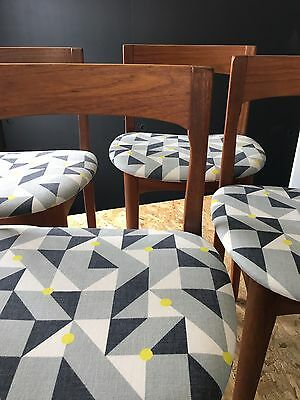 70's Retro Teak Dining Chairs Nathan Furniture Mid Century
