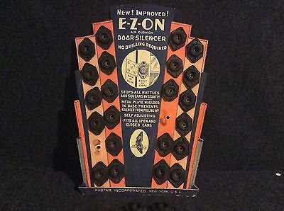 RARE NOS Vintage E-Z-ON Door Silencer Counter Display Gas And Oil Gas Station