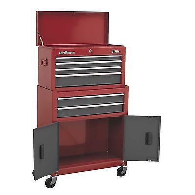 New Pro Metal Tool Storage Top Box Chest & Roller Cabinet Combination Toolbox