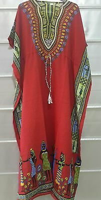 Women's New Floral  print Long kaftan dress african style Free size 12 to 24
