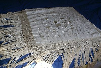 Antique  silk piano scarf