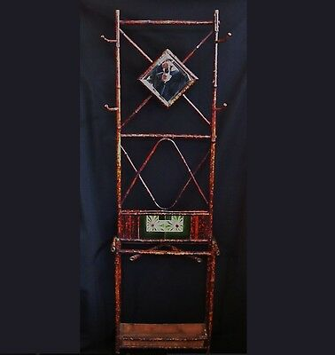 19th Century English Art Nouveau Bamboo Umbrella Stand Mudroom Hall Tree