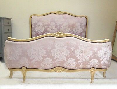 Beautiful Original Vintage French Louis Xv Demi-Corbeille Double Bed