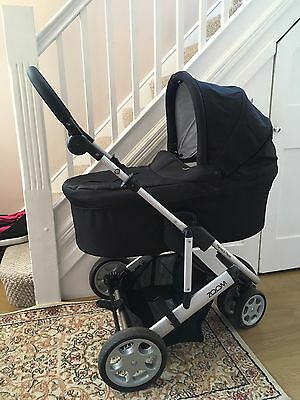 Mamas And Papas Carrycot Sola Glide Zoom URBO Black