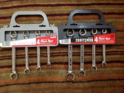 Craftsman USA Flare Nut Wrench Set - SAE & Metric - 8 Pieces New