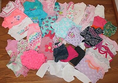 HUGE Baby Girl Clothing Lot 3-6 6 months Dresses, Shorts, Shirts Summer Clothes
