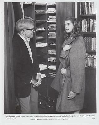 """George Burns, Brooke Shields in """"Just You and Me, Kid"""" 1979 Vintage Movie Still"""