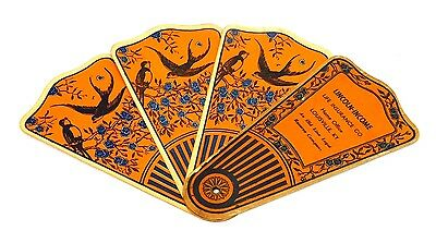Antique Victorian ~Lincoln Income Ins~ Advertising Folding Paper Fan Trade Card