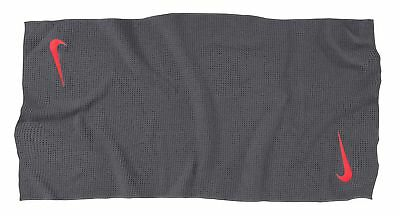 "Nike Golf Tour Microfiber Large Towel 19"" x 41"" - Dark Grey w/ max orange N85511"