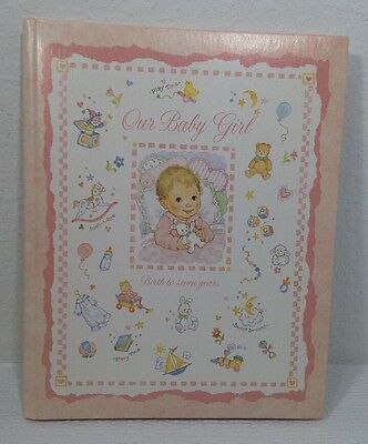 Vintage Gibson Our Baby Girl Baby Record Book Original Box Unused 1981