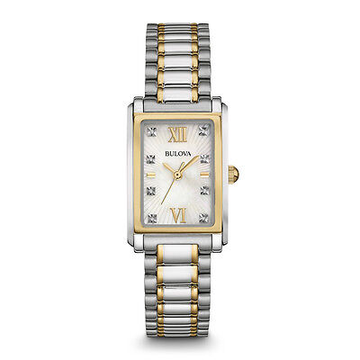 Bulova 98P144 Womens Silver Analog Display Quartz Two Tone Watch
