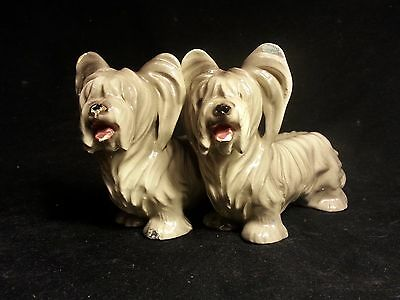 Collectibles, porcelain Skye Terrier brace