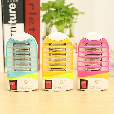 LED Electric Mosquito Fly Pest Bug Insect Zapper Trap Killer Night Lamp USA Plug
