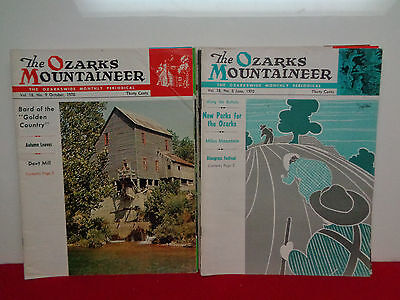 The Ozarks Mountaineer, Periodical Lot Of 12 1970-1976