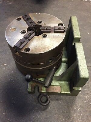 """Vertical/Horizontal Rotary Indexer W/ 8"""" Bison 3 Jaw Chuck"""