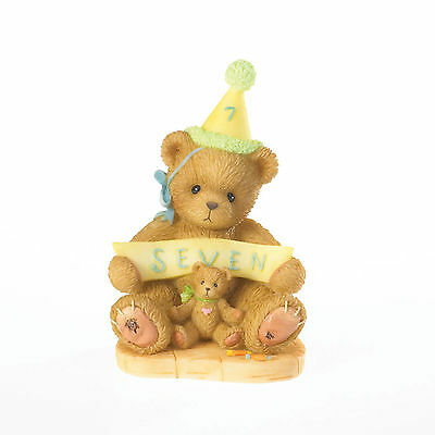 Cherished Teddies Through The Years 'Sign Say...You're Seven!' Age 7 4020578