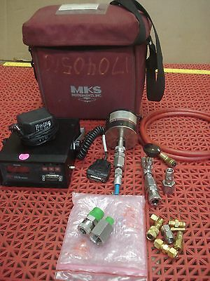 MKS Portable Baratron System 102A-11546 Pressure Transducer Readout Adapters