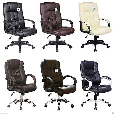 Leather Office Chair Swivel Executive Office Furniture Computer Desk Chair