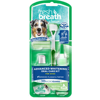 Tropiclean Fresh Breath Advanced Whitening Oral Care Kit For Dogs 2 Ounce