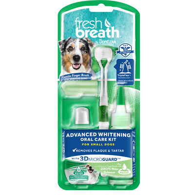 Tropiclean Fresh Breath Advanced Whitening Oral Care Kit For Small Dogs 2 Ounce