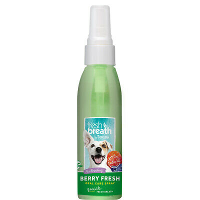Tropiclean Fresh Breath Oral Care Spray Berry Fresh 2 Ounce For Dogs