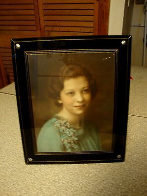 Vintage Art Deco Picture Frame Reverse Painted