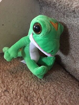 "Geico Gecko Lizard Mascot Stuffed Animal Plush 5"" Green"