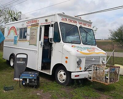 Food Truck with Built-in Smoker Barbecue Pit in Rear Compartment - Ready to Work