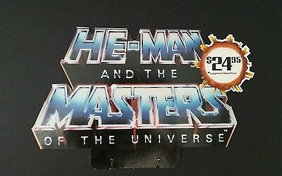 Vintage Display Topper HE-MAN AND MASTER'S OF THE UNIVERSE 1985 Video Rls 13.5x8