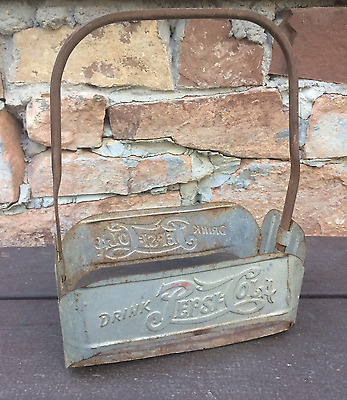 Vintage Metal Pepsi Bottle Carrier
