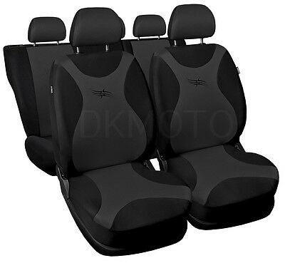 Full set CAR SEAT COVERS  fit Ford Focus Mk2 - black/grey