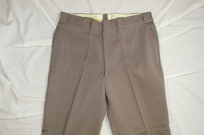 Vtg 50s 60s Thick Gabardine Wool Uniform Work Pant Measure 33x29 Dress Hollywood