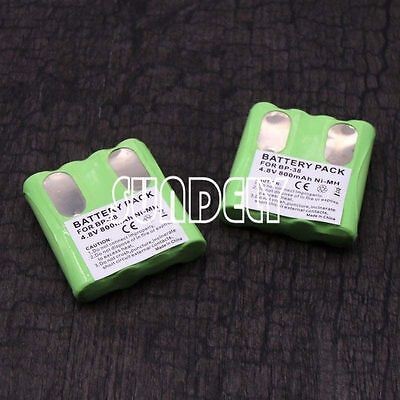 New 2X Ni-MH Battery Packs For Binatone Two Way Radio Walkie Talkie Terrain-750