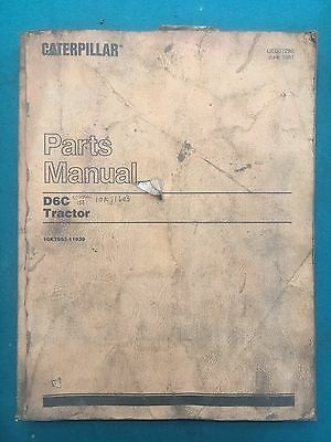 Caterpillar D6C Tractor Service Manual And Parts Manual