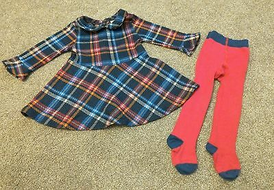 Next dress and tights outfit 6-9 months baby girls next dress 6-9 mth