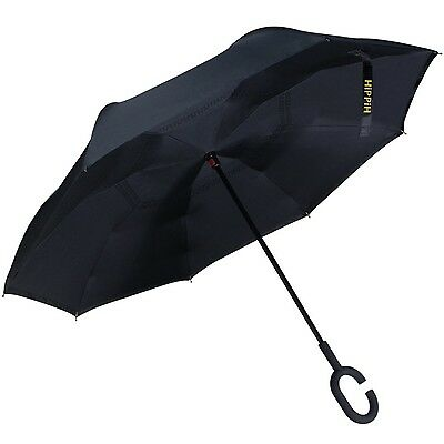 Hippih Double Layer Inverted Umbrellas Reverse Folding Umb... New, Free Shipping