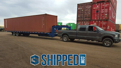 USED SHIPPING CONTAINER 40FT HIGH CUBE SECURE HOME STORAGE - BEST PRICE in TEXAS