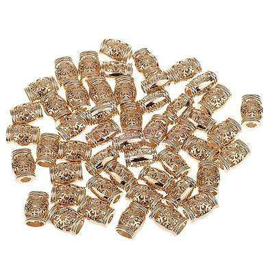 50pcs 15.5mm Metal Gold Bell Shaped String Cord Lock End Caps Toggle Stops