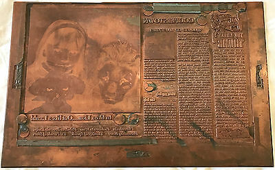 Vintage Copper Printing Plate - 1960s New York Bell Telephone Ad - Letterpress