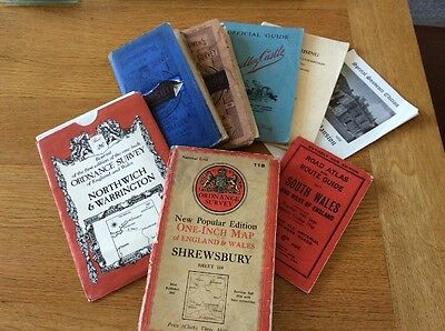 Selection of old Maps and Guide Books