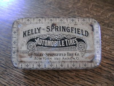 Vintage Kelly-Springfield Tires Tin & Advertising Matchbook