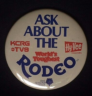 Pin Back Hy-Vee Grovery Stores Rodeo Promotion