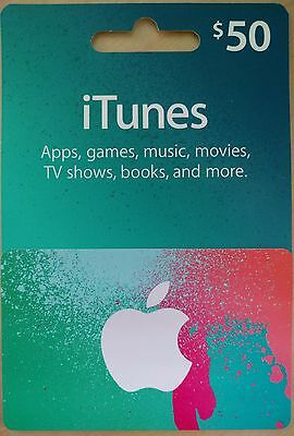 iTunes $50 Gift Card Free Shipping