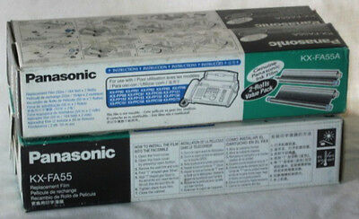 **PANASONIC*Genuine INK FILM Replacement*FAX Machine*KX-FA 92*Lot*2 Boxes*NR**