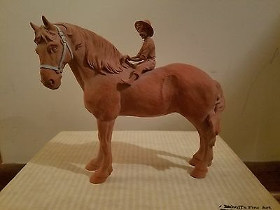 Imhoff's Homestead Life Collection Little Helper Amish Horse Figurine Statue